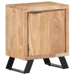 vidaXL Nevera portátil de madera maciza de acacia 63x44x50 cm