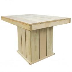 vidaXL Mesa de jardín madera maciza de acacia 80x80x74 cm