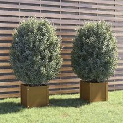 vidaXL Sillas de camping plegables de aluminio 2 unidades negro