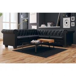 vidaXL Pérgola de jardín con mesa y bancos 2,5x1,5x2,4 m gris