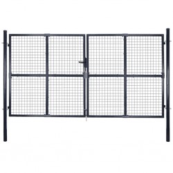 vidaXL Valla de tela metálica acero galvanizado verde 1x15 m