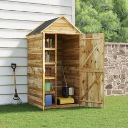 vidaXL Cenador con techo ratán sintético 400x400x200 cm marrón y crema