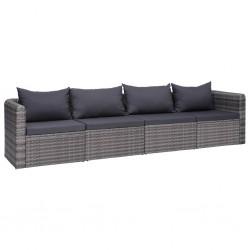 vidaXL Cenador con techo retráctil inclinable 350x250x225 cm antracita