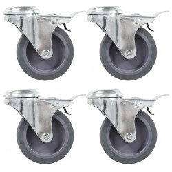 vidaXL Valla de jardín de acero galvanizado 50 m 120 cm