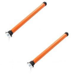 vidaXL Estera de control de malezas y raíces PP 2x10 m negro