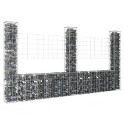 vidaXL Puertas de valla 2 uds madera de pino impregnada 300x125 cm