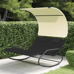 vidaXL Caseta de almacenamiento jardín acero marrón 204x132x186 cm