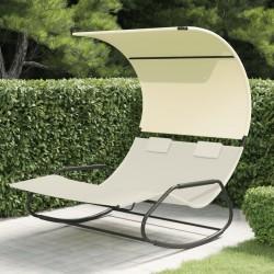 vidaXL Caseta de almacenamiento jardín acero marrón 257x205x178 cm