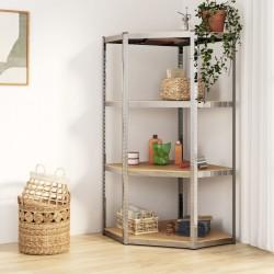 vidaXL Bandeja cocina alambre 2 niveles plata 180 grados 75x38x80 cm