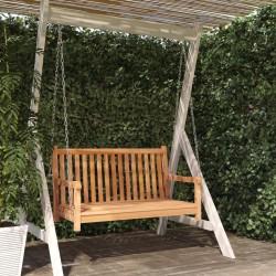 vidaXL Banco de almacenamiento madera blanco 126x42x75 cm