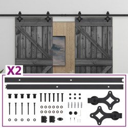 vidaXL Conjunto de triángulos 3 piezas acero inoxidable