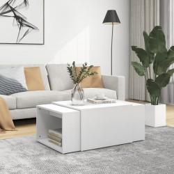vidaXL Estantería de libros/mueble TV aglomerado blanco 36x30x114 cm