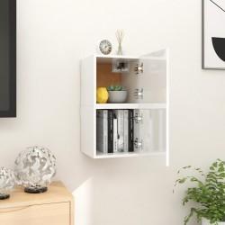 vidaXL Estantería/mueble TV aglomerado gris cemento 36x30x114 cm