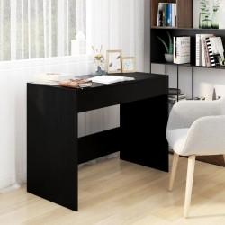 vidaXL Escritorio con estantes aglomerado negro brillo 110x45x157 cm