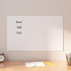 vidaXL Escritorio de aglomerado blanco brillante 100x50x76 cm