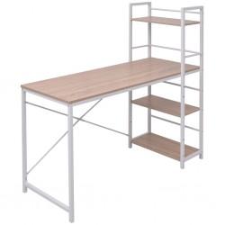 vidaXL Armario con cajones de aglomerado blanco 50x50x200 cm