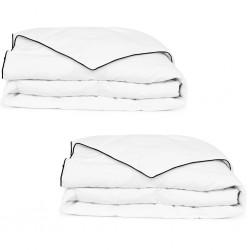 vidaXL Armario con cajones de aglomerado blanco brillante 50x50x200 cm