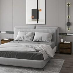 vidaXL Estantería 3 niveles aglomerado gris brillante 60x30x114 cm