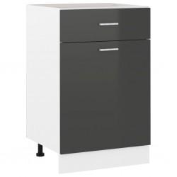 vidaXL Estantería 5 niveles aglomerado gris brillante 60x30x189 cm