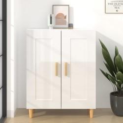vidaXL Estantería 3 niveles aglomerado negro brillante 80x30x114 cm
