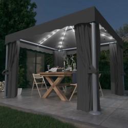 vidaXL Maletín trolley de maquillaje de aluminio rosa