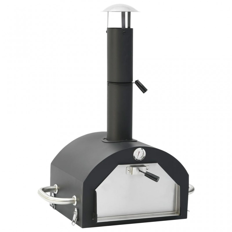 vidaXL Biombo divisor 3 paneles de tela negro 120x170x4 cm