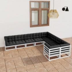 vidaXL Cenador con doble techo blanco 3x4 m