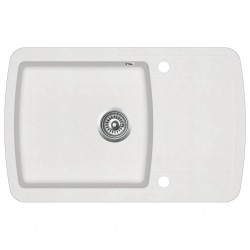 Fregadero reversible blanco crema de granito una cubeta escurridor