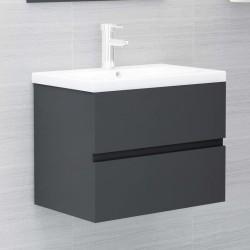 vidaXL Transportín para gatos sauce natural gris 60x45x45 cm