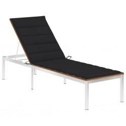 vidaXL Mesita de noche de madera maciza de teca 35x35x50 cm