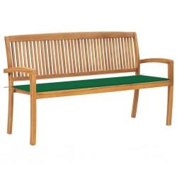 vidaXL Juego de muebles de jardín 2 piezas madera cojín gris taupe