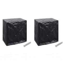 vidaXL Lavabo de cerámica cuadrado con orificio de grifo/desagüe negro