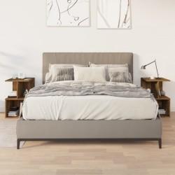 vidaXL Set mesa y sillas de bar 5 pzas madera acacia acero inoxidable