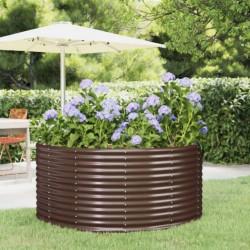 vidaXL Puerta de valla de acero verde 106x250 cm