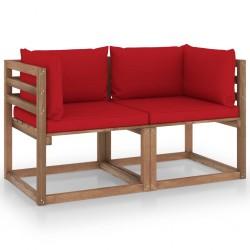 vidaXL Set de comedor de jardín 5 piezas madera de pino impregnada