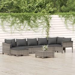 vidaXL Invernadero de aluminio gris antracita 7,03 m²