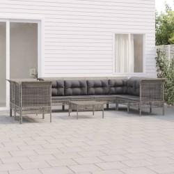 vidaXL Invernadero con estructura de aluminio gris antracita 11,55 m³