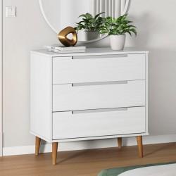 vidaXL Reposapiés de jardín y cojín color crema madera maciza teca