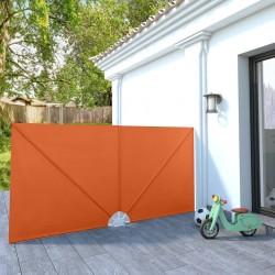 vidaXL Cuerda para poste de control de masas terciopelo rojo y dorado