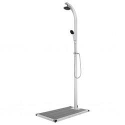 vidaXL Escritorio de aglomerado blanco y roble Sonoma 90x50x74 cm