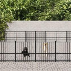 vidaXL Colchón de aire inflable con almohada verde oscuro 130x190 cm