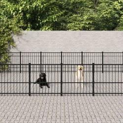 vidaXL Cancela de 5 barras para campo acero plateado (115-300)x90 cm