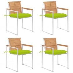 vidaXL Juego de muebles de jardín 5 piezas plástico blanco