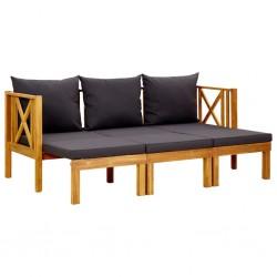 vidaXL Cenador con cortinas acero gris antracita 3x4 m
