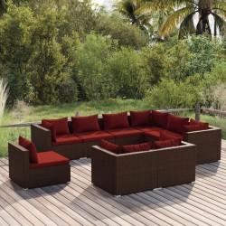 vidaXL Juego de muebles de jardín 3 piezas madera de pino impregnada