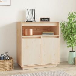 vidaXL Caja almacenaje pintada a mano madera maciza mango 80x40x40 cm