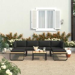 vidaXL Mueble de TV madera maciza de mango negro y dorado 120x30x40 cm