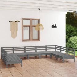 vidaXL Caja de palés 3 unidades madera maciza de pino 100x100 cm