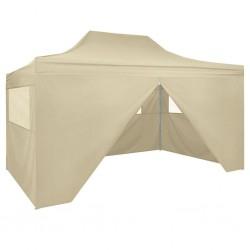 vidaXL Paravientos de playa desmontable amarillo 220x220x160 cm