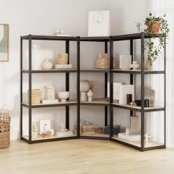 vidaXL Mueble para TV de aglomerado blanco 120x34x37 cm